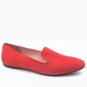 New JCREW Red Suede Smoking Slippers Loafers